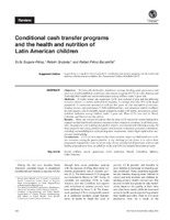 Conditional Cash Transfer Programs And The Health And