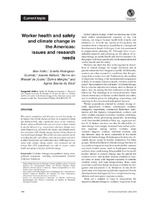 Worker health and safety and climate change in the Americas: issues and research needs