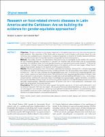 Research on food-related chronic diseases in Latin America and the Caribbean: Are we building the evidence for gender-equitable approaches?