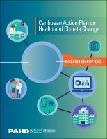 Caribbean Action Plan on Health and Climate Change: Indicator Descriptors