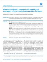 Monitoring inequality changes in full immunization coverage in infants in Latin America and the Caribbean