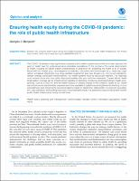 Ensuring health equity during the COVID-19 pandemic: the role of public health infrastructure
