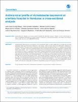 Antimicrobial profile of Acinetobacter baumannii at a tertiary hospital in Honduras: a cross-sectional analysis
