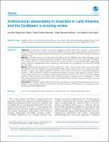 Antimicrobial stewardship in hospitals in Latin America and the Caribbean: a scoping review