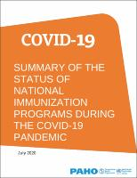 Summary of the Status of National Immunization Programs during the COVID-19 Pandemic, July 2020