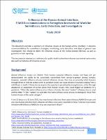 Influenza at the Human-Animal Interface: PAHO Recommendations to Strengthen Intersectoral Work for Surveillance, Early Detection, and Investigation, 9 July 2020