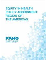 Equity in Health Policy Assessment: Region of the Americas