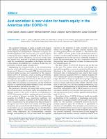Just societies: A new vision for health equity in the Americas after COVID-19