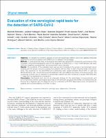 Evaluation of nine serological rapid tests for the detection of SARS-CoV-2