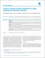 Trends in diabetes mortality identified from death certificates in Colombia, 1979-2017