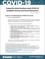 Frequently Asked Questions (FAQs) about COVID-19 Candidate Vaccines and Access Mechanisms. Version 3, 6 January 2021