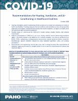 Recommendations for Heating, Ventilation, and Air Conditioning in Healthcare Facilities, October 2020