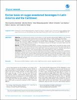 Excise taxes on sugar-sweetened beverages in Latin America and the Caribbean