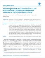 Embedding research into health services in Latin America and the Caribbean: experiences and challenges of the Technical Support Center