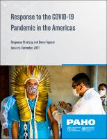 Response to the COVID-19 Pandemic in the Americas: Response Strategy and Donor  Appeal. January–December 2021