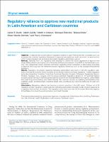Regulatory reliance to approve new medicinal products in Latin American and Caribbean countries