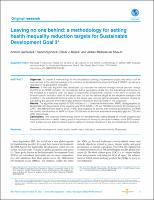Leaving no one behind: a methodology for setting health inequality reduction targets for Sustainable Development Goal 3