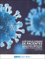 Guia para o cuidado de pacientes adultos críticos com COVID-19 nas Américas.  Resumo, versão 3