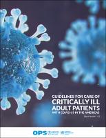 Guidelines for Care of Critically Ill Adult Patients with COVID-19 in the Americas. Summary, version 3
