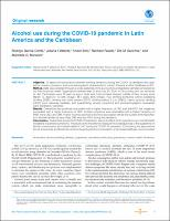 Alcohol use during the COVID-19 pandemic in Latin America and the Caribbean