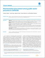 Pharmaceutical procurement among public sector procurers in CARICOM