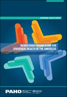 Monitoring Framework for Universal Health in the Americas