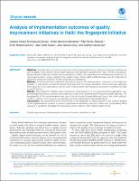Analysis of implementation outcomes of quality improvement initiatives in Haiti: the fingerprint initiative