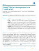 Antibiotic prophylaxis for surgical procedures: a scoping review