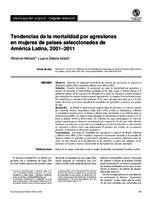 Tendencias de la mortalidad por agresiones en mujeres de países seleccionados de América Latina, 2001-2011