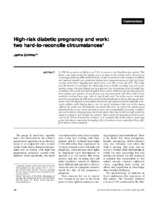 High-risk diabetic pregnancy and work: two hard-to-reconcile
